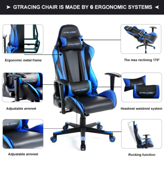 Pro series GT002 gaming chair features