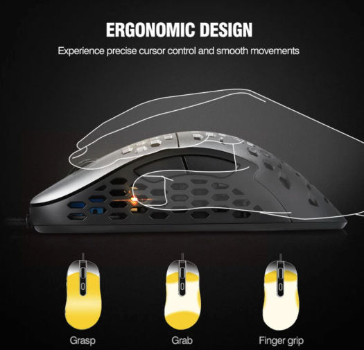 ESM N1 Wired Gaming Mouse ergonomic design