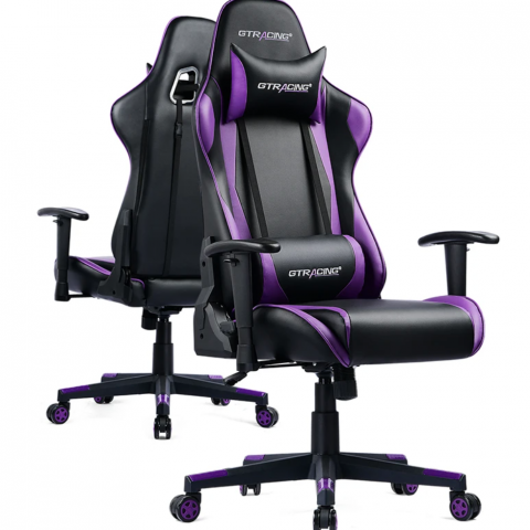 PRO SERIES // GT002-PURPLE gaming chair side view