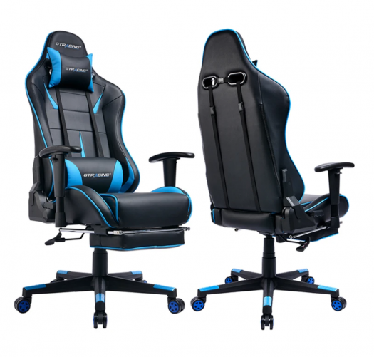 Footrest SERIES // GT909-BLUE gaming chair