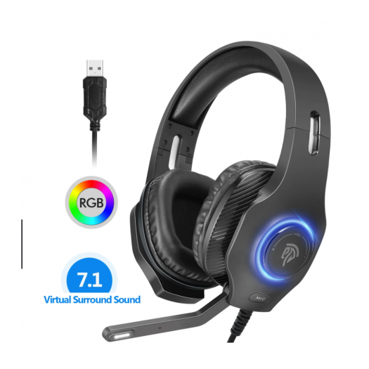 VIP002D Gaming Headset with USB Port 7.1 Surround Sound rgb